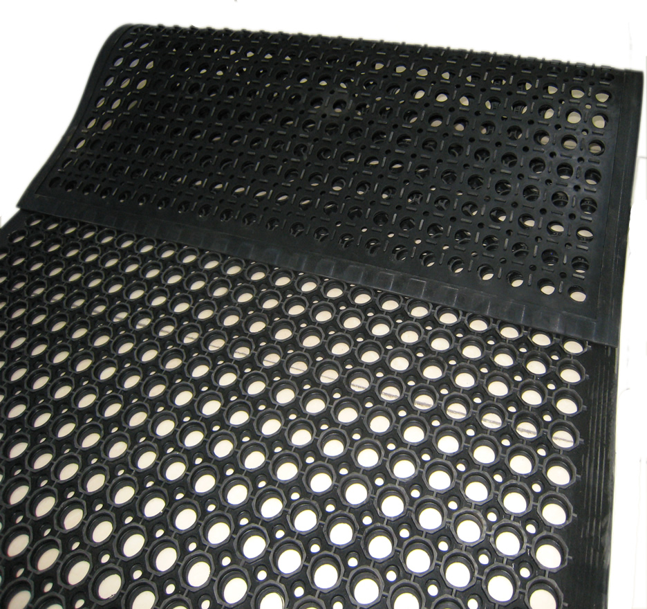 Slopping Side Drainage Mat Aok Rubber Manufacturing