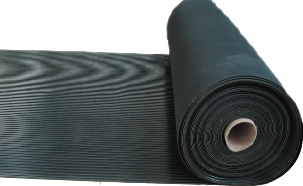 Flat Ribbed Rubber Mat Aok Rubber Manufacturing Limited